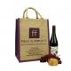 Jute Bag for carrying wine bottles