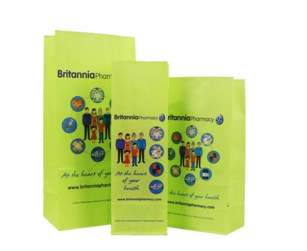 Paper Prescription Bag with 100% ink