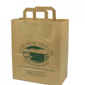 Brown Paper Bag Flat Handle