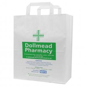 Paper Bag Flat Handles Pharmacy