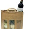 Jute Wine Bottle Bag with bottle separator